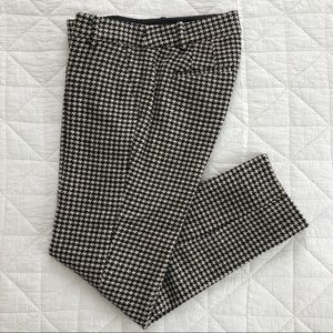 J.Crew 00 City Fit skimmer houndstooth wool pants